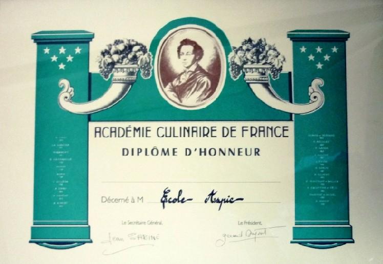 ASPIC ACADEMIE CULINAIRE DE FRANCE